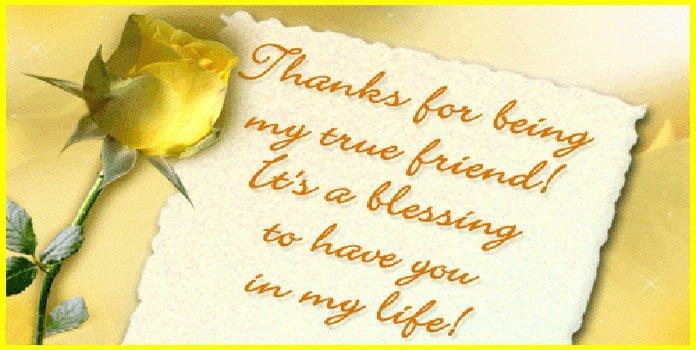Lời cảm ơn chân thành đến bạn bè