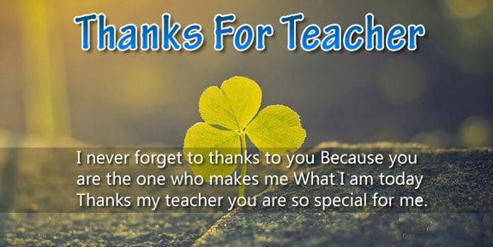 Lời cảm ơn thầy cô bằng tiếng anh