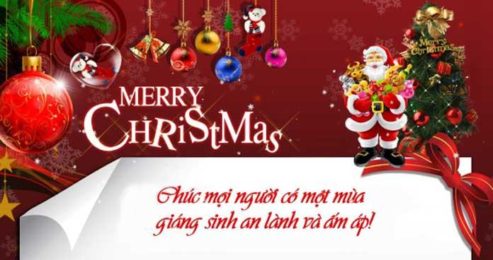 Lời chúc giáng sinh bằng tiếng Anh