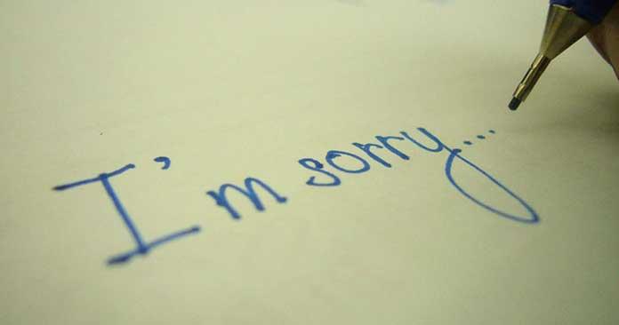 Những câu xin lỗi hay